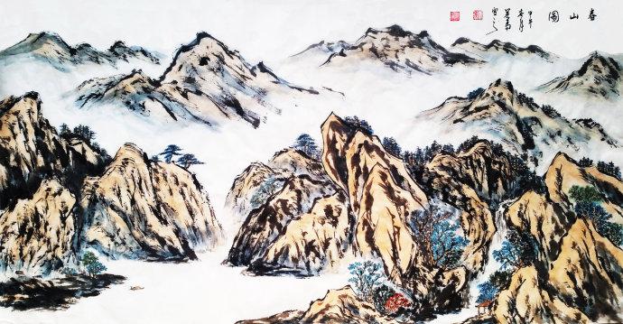 春山图 画家吴马作品