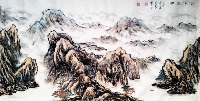 江州独钓 画家吴马作品