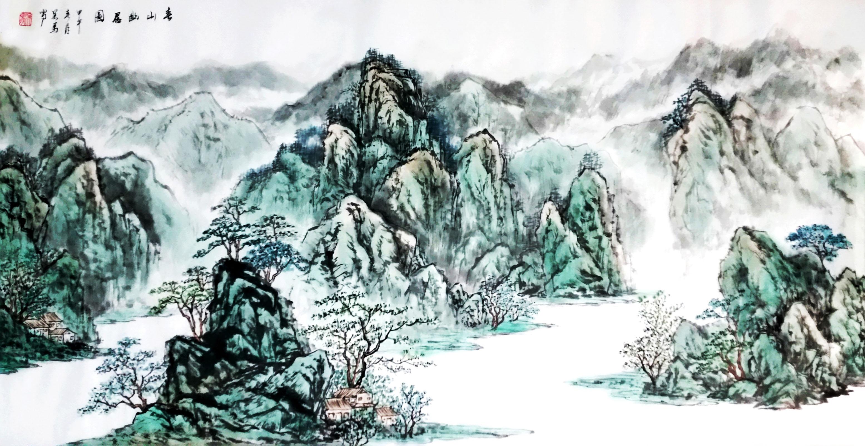 春山居图 画家吴马作品