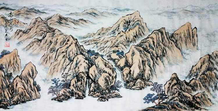 高山流水 画家吴马作品