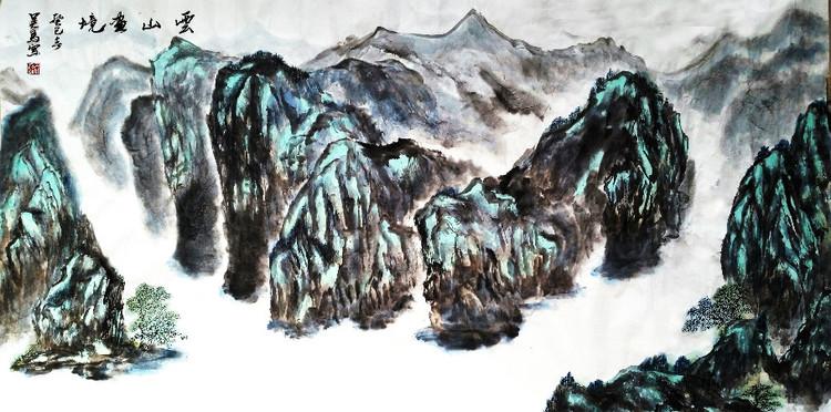 云山画境 吴马作品