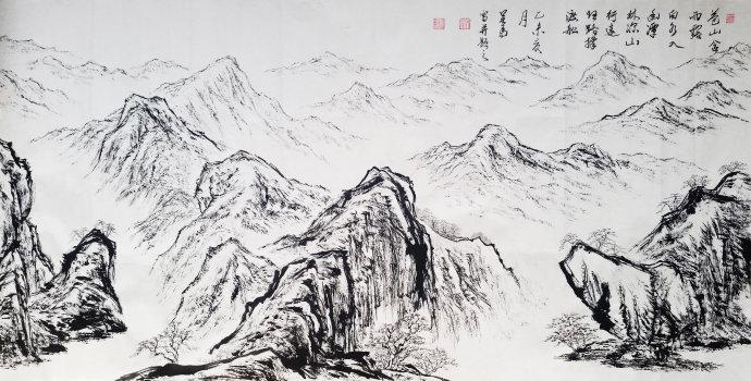 苍山含雨露(69X125) 吴马作品