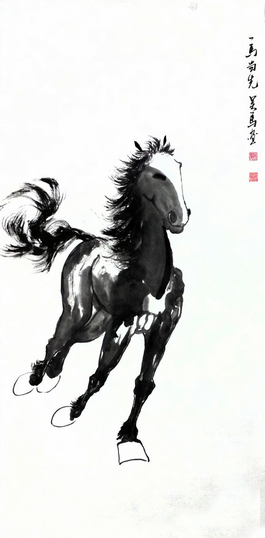 奔马图(4平尺)画家吴马作品